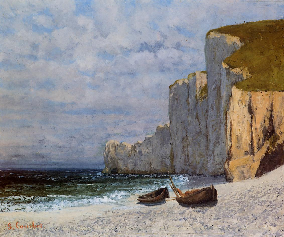 A Bay with Cliffs 1869 | Gustave Courbet | Oil Painting