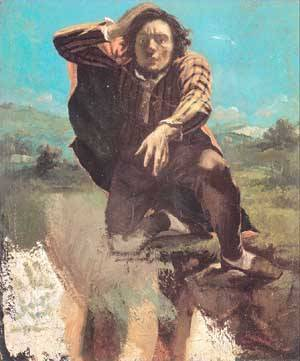 The Desperate Man (The Man Made By Fear) 1843-44 | Gustave Courbet | Oil Painting