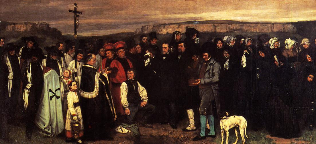 A Burial at Ornhans 1849-1850 | Gustave Courbet | Oil Painting