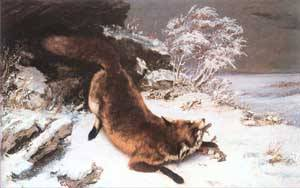 The Fox In The Snow 1860 | Gustave Courbet | Oil Painting