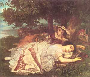 The Young Ladies On The Banks Of The Seine (Summer) 1856-57 | Gustave Courbet | Oil Painting