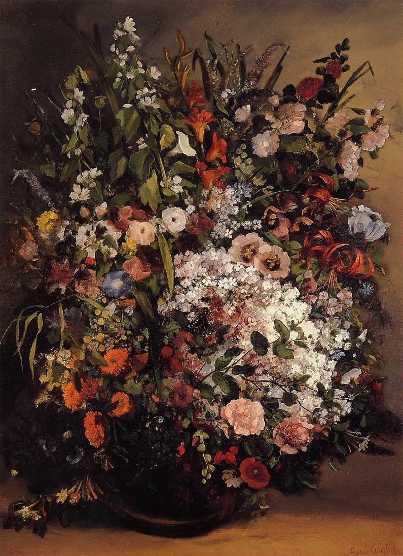 Bouquet of Flowers 1862 | Gustave Courbet | Oil Painting