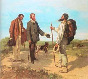 The Meeting (Bonjour Monsieur Courbet) 1854 | Gustave Courbet | Oil Painting