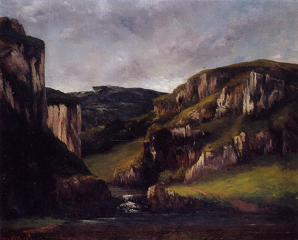 Cliffs near Ornans 1865 | Gustave Courbet | Oil Painting