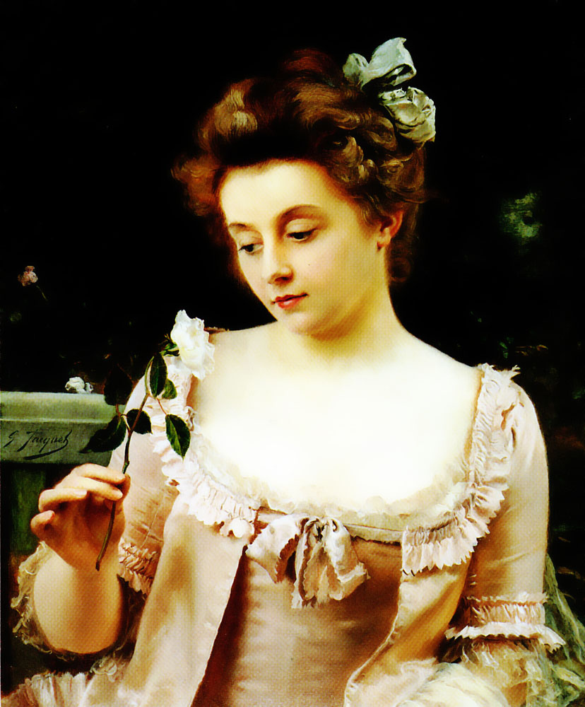 A Rare Beauty | Gustave Jacquet | Oil Painting