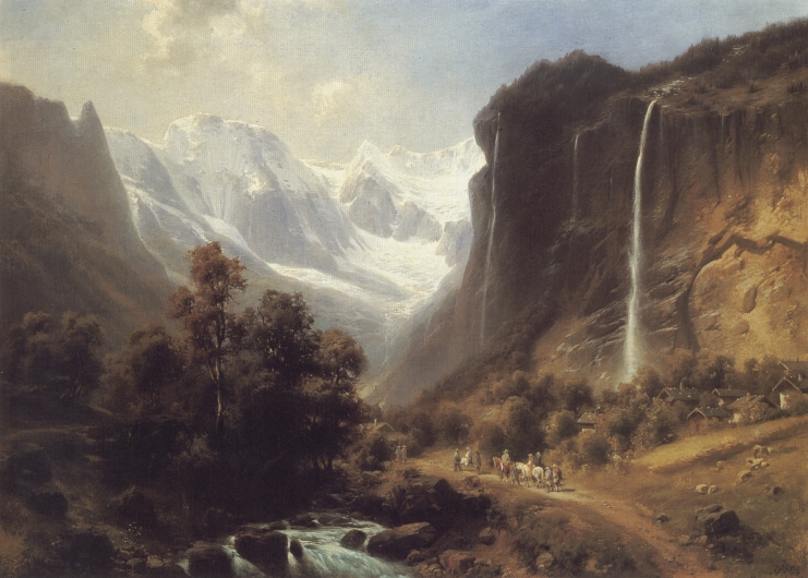 Travellers | Heinrich Hofer | Oil Painting