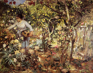 A Corner of the Garden in Monaco 1884 | Henri Edmond Cross | Oil Painting