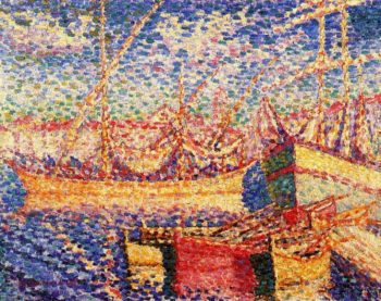 Boats in the Port of St Trope | Henri Edmond Cross | Oil Painting