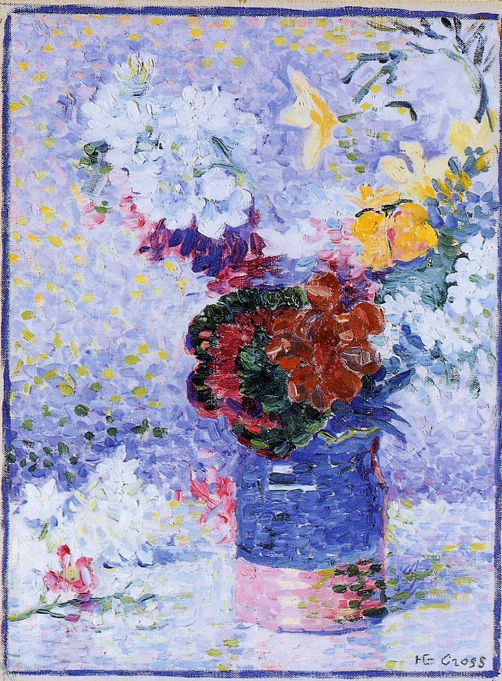 Flowers in a Glass 1904 | Henri Edmond Cross | Oil Painting