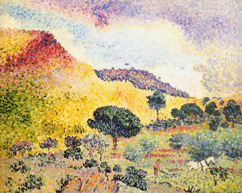 La Chaine des Maures 1906 1907 | Henri Edmond Cross | Oil Painting