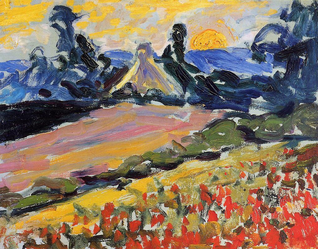 Landscape with Sunset | Henri Edmond Cross | Oil Painting