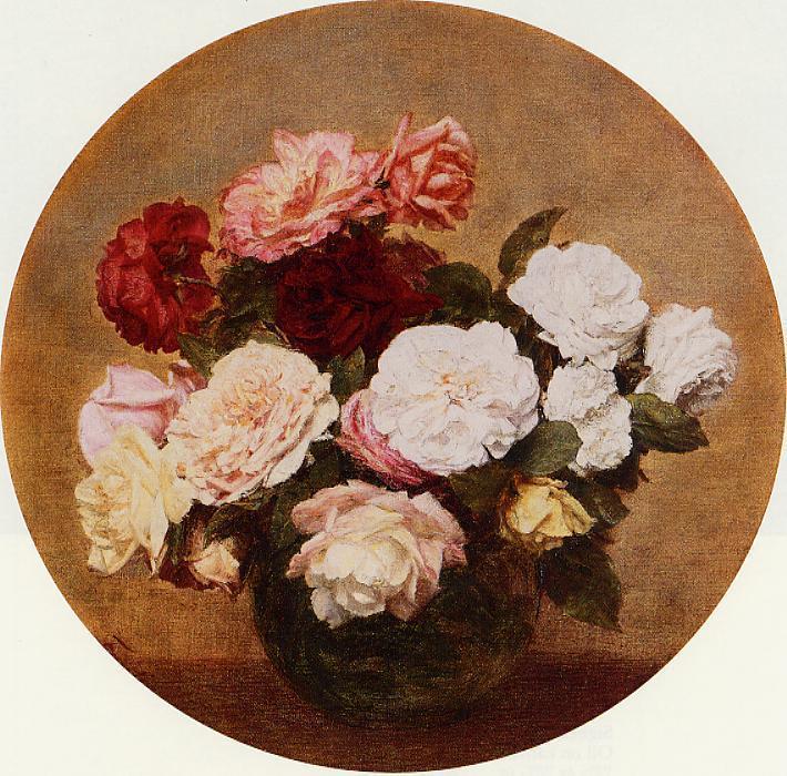 A Large Bouquet of Roses 1886 | Henri Fantin Latour | Oil Painting