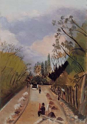 Avenue de l-Observatoire 1896-1898 | Henri Rousseau | Oil Painting