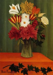 Bouquet of Flowers with an Ivy Branch 1909 | Henri Rousseau | Oil Painting