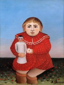 Child with Doll 1904-1905 | Henri Rousseau | Oil Painting