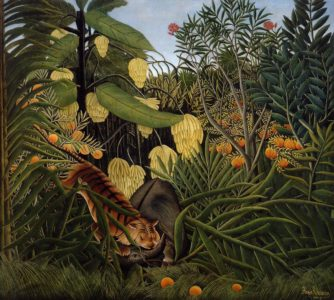 Fight between a Tiger and a Buffalo 1908 | Henri Rousseau | Oil Painting