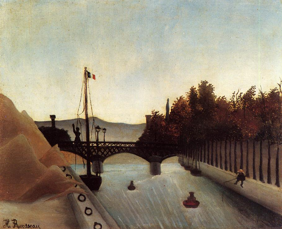 Footbridge at Passy 1895 | Henri Rousseau | Oil Painting