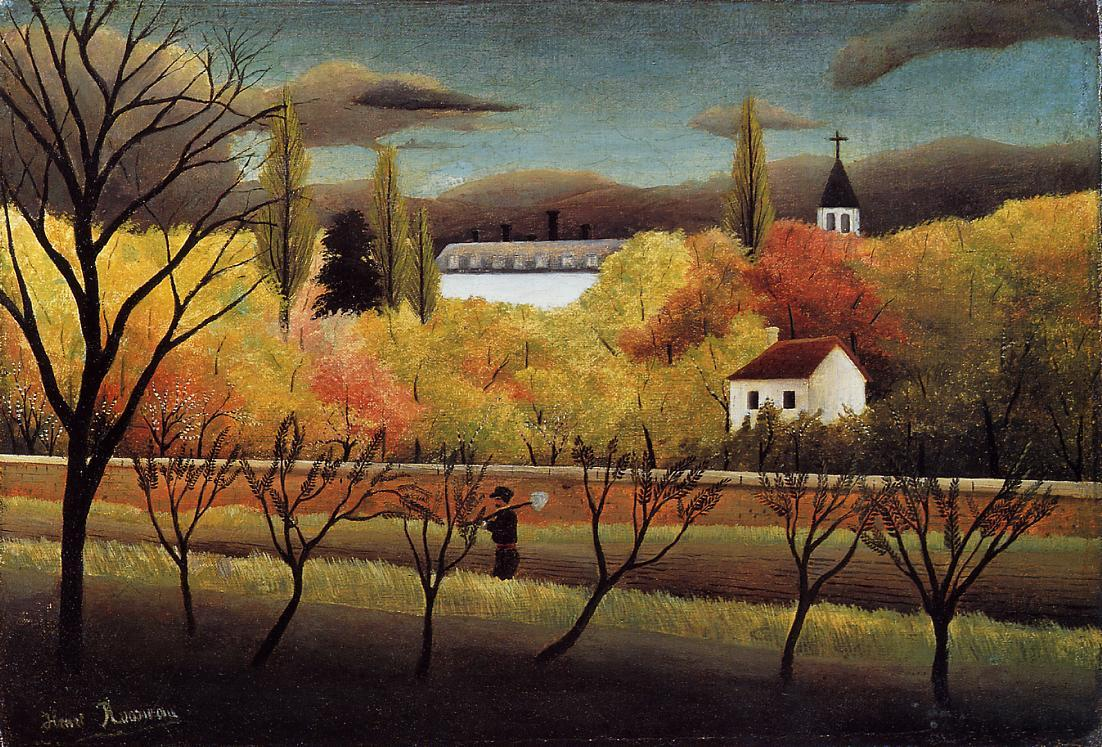Landscape with Farmer 1896 | Henri Rousseau | Oil Painting