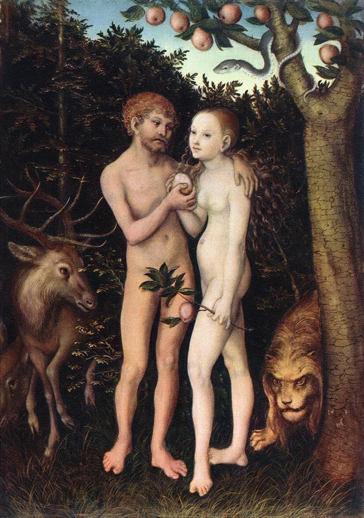 Adam And Eve | Lucas The Elder Cranach | Oil Painting