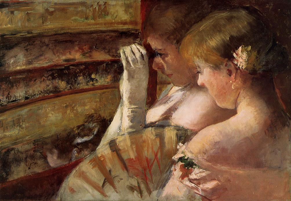 A Corner of the Loge (aka In the Box) 1879 | Mary Cassatt | Oil Painting