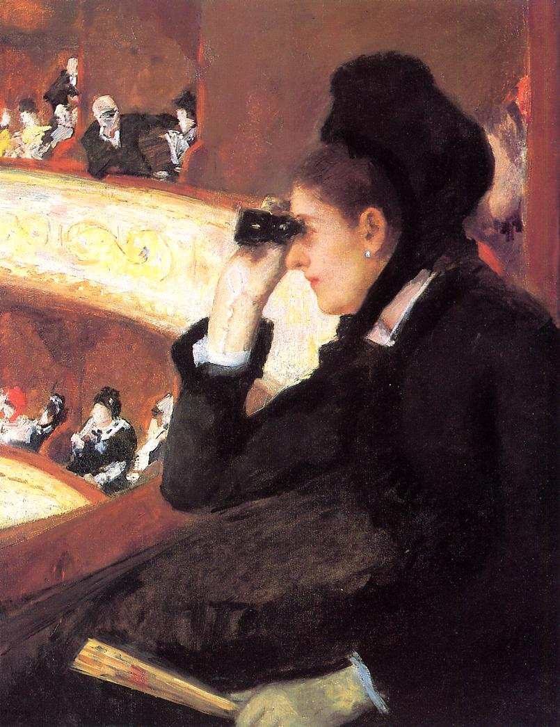 At the Francais a Sketch (aka At the Opera) 1877-1878 | Mary Cassatt | Oil Painting