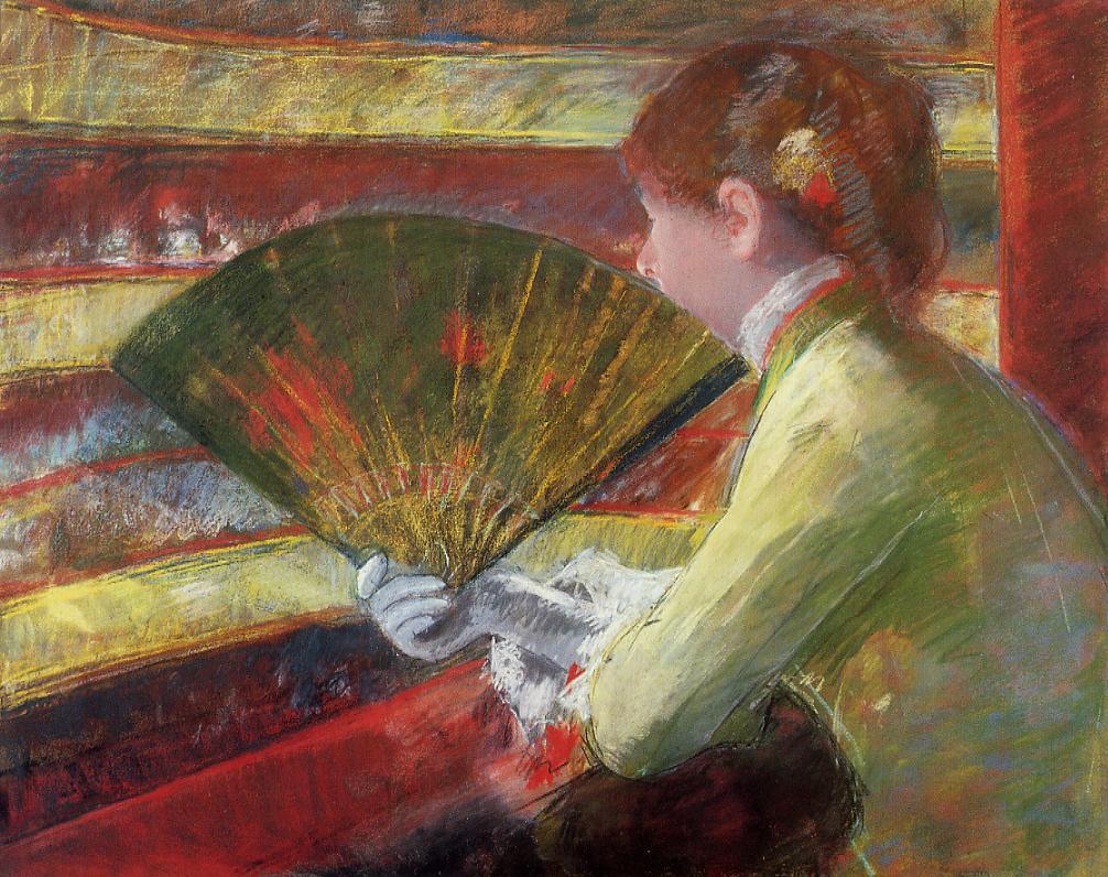 At the Theater 1879 | Mary Cassatt | Oil Painting