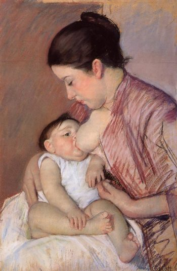 Motherhood 1890 | Mary Cassatt | Oil Painting