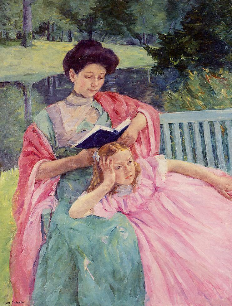 Auguste Reading to Her Daughter 1910 | Mary Cassatt | Oil Painting