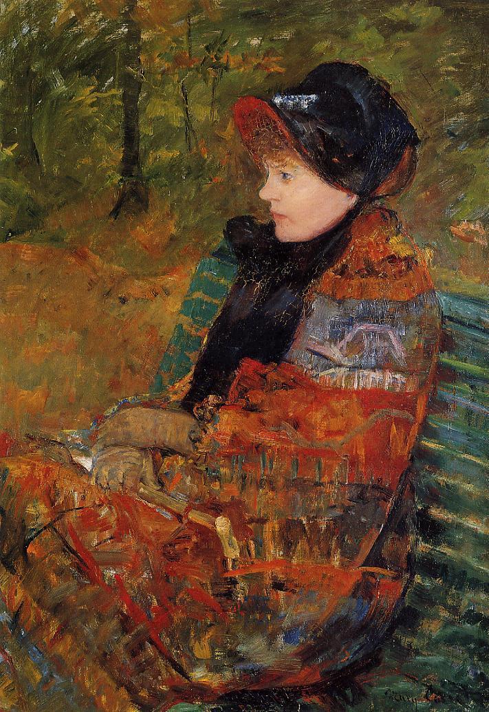 Autumn (aka Profile of Lydia Cassatt) 1880 | Mary Cassatt | Oil Painting