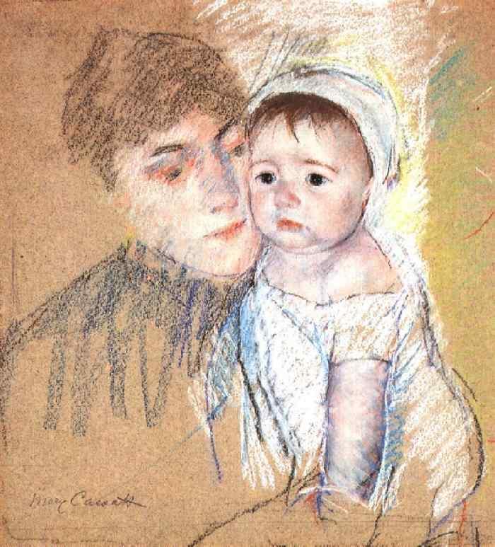 Baby Bill in Cap and Shift 1889-1890 | Mary Cassatt | Oil Painting