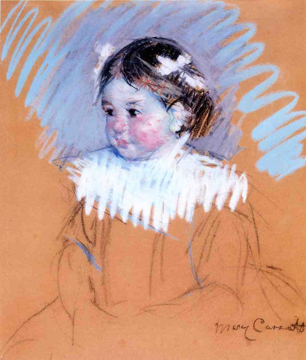 Bust of Ellen wiith Bows in Her Hair 1898 | Mary Cassatt | Oil Painting