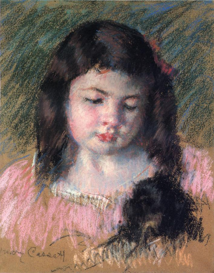 Bust of Francoise Looking Down 1908 | Mary Cassatt | Oil Painting