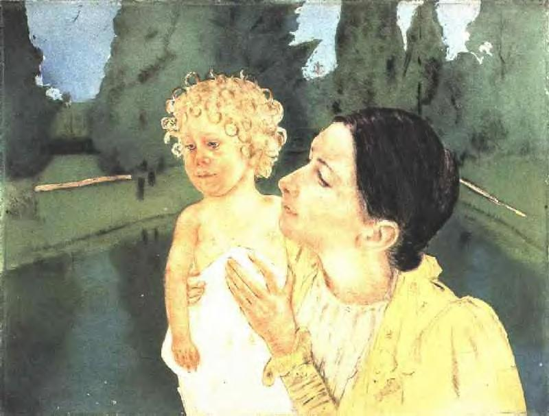 By the Pond 1898 | Mary Cassatt | Oil Painting
