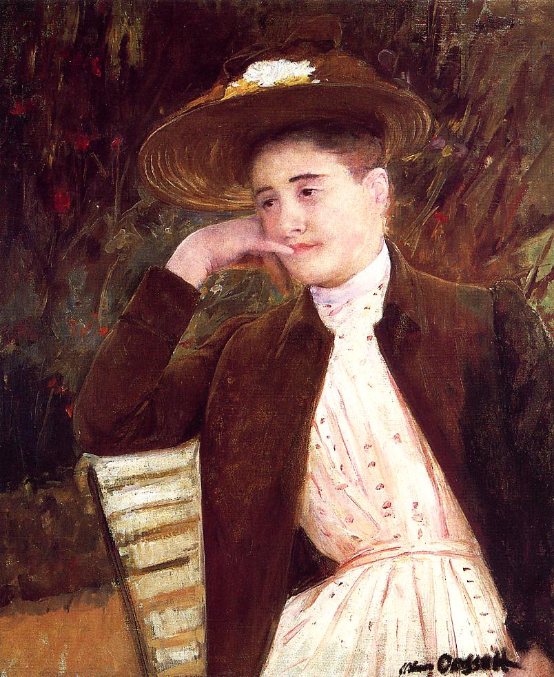 Celeste in a Brown Hat 1891 | Mary Cassatt | Oil Painting
