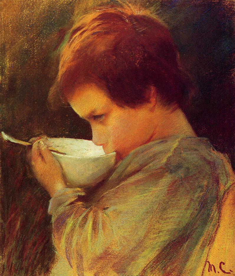 Child Drinking Milk 1868 | Mary Cassatt | Oil Painting