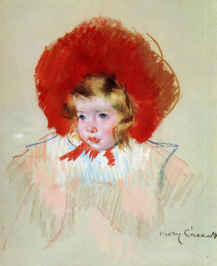 Child with Red Hat 1901 | Mary Cassatt | Oil Painting