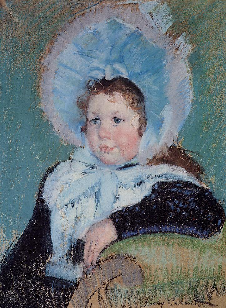 Dorothy in a Very Large Bonnet and a Dark Coat 1904 | Mary Cassatt | Oil Painting