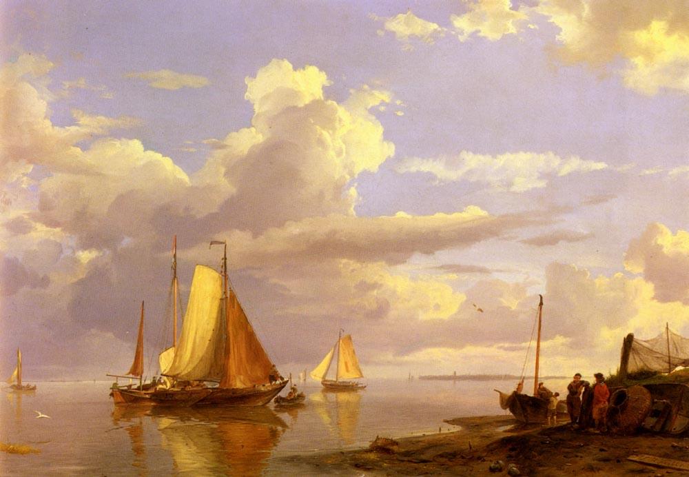 A Shipwreck In Stormy Seas | Hermanus Snr Koekkoek | Oil Painting