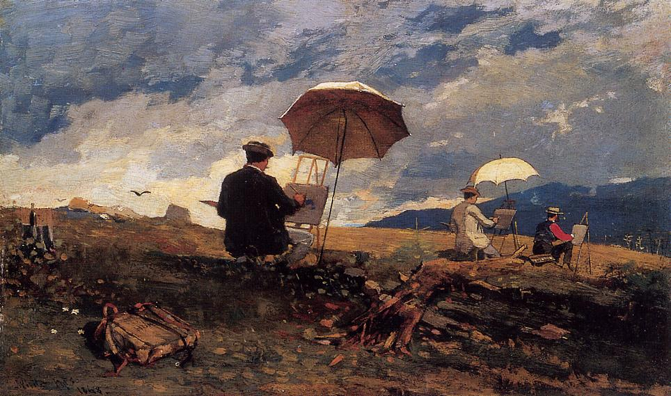 Artists Sketching in the White Mountains 1868 | Homer Winslow | Oil Painting