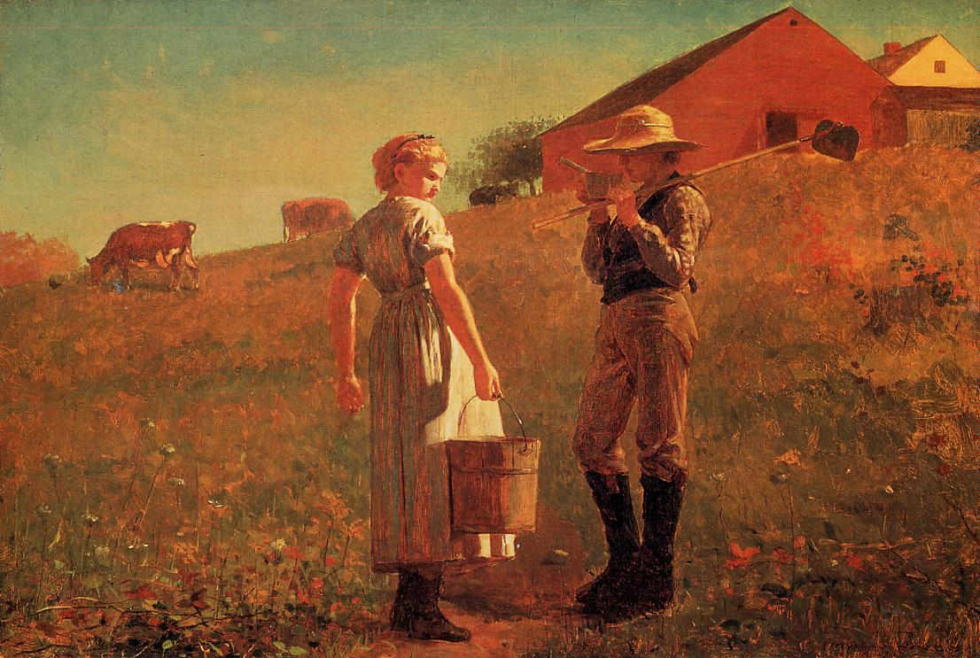 A Temperance Meeting (aka Noon Time) 2 1874 | Homer Winslow | Oil Painting