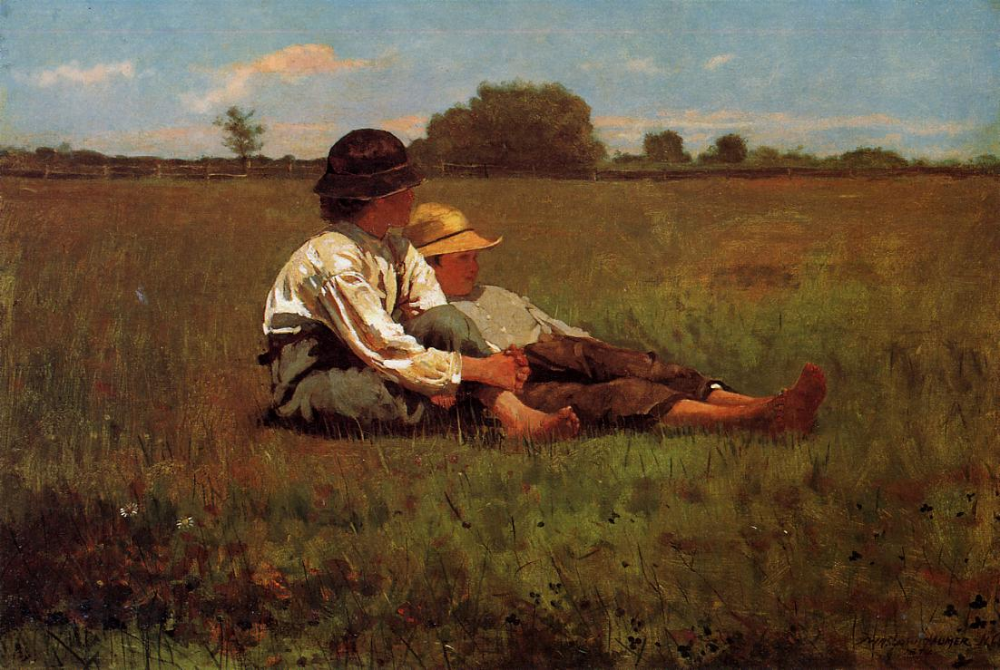 Boys in a Pasture 1874 | Homer Winslow | Oil Painting