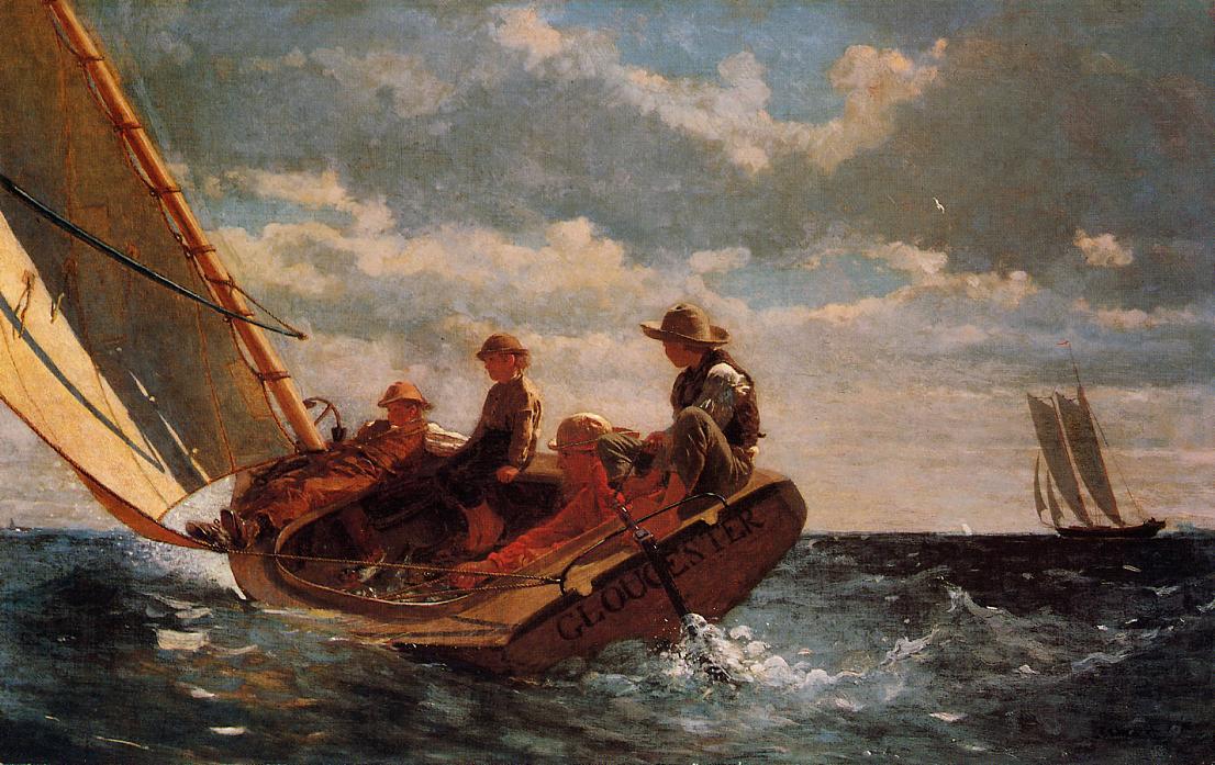 Breezing Up (aka A Fair Wind) 1876 | Homer Winslow | Oil Painting