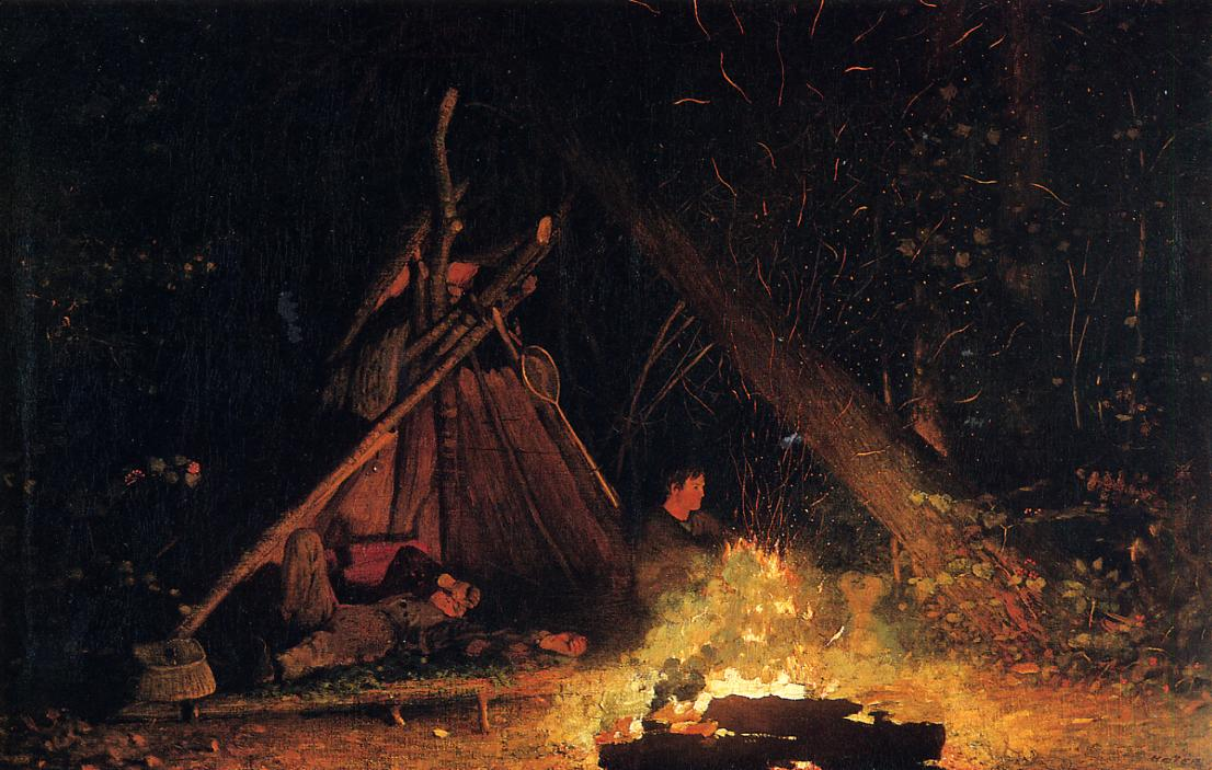 Camp Fire 1877-1878 | Homer Winslow | Oil Painting