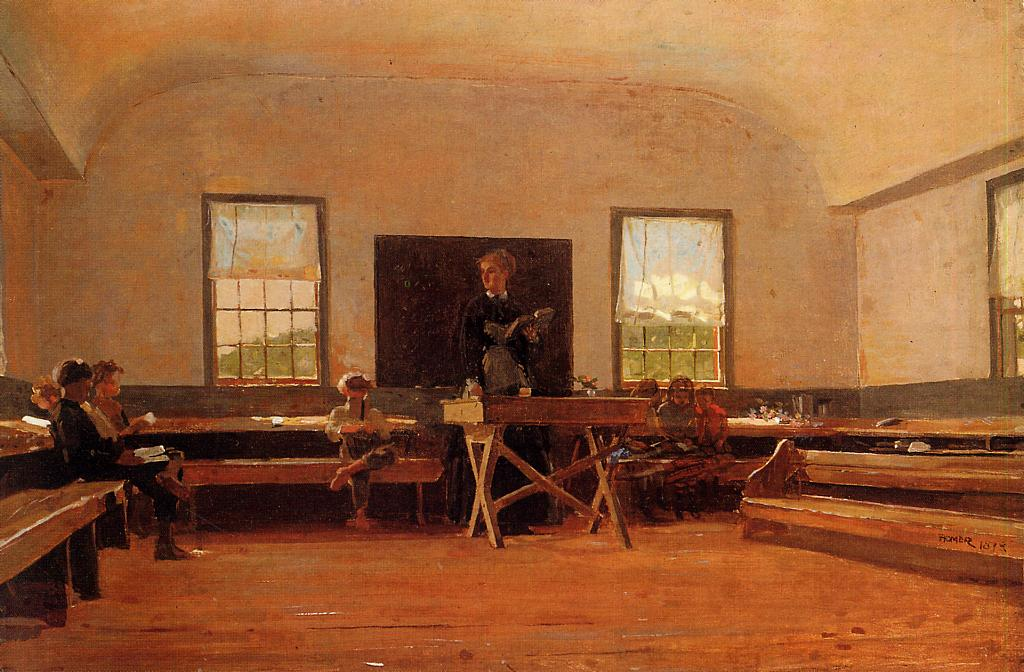 Country School 1871-1872 | Homer Winslow | Oil Painting