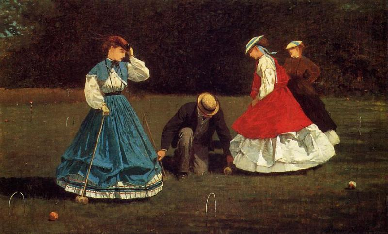 Croquet Scene 1866 | Homer Winslow | Oil Painting