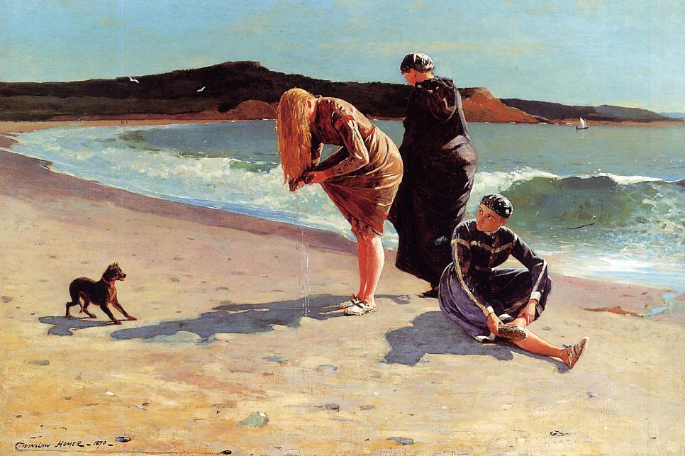 Eagle Head Manchester Massachusetts (aka High Tide) 1870 | Homer Winslow | Oil Painting