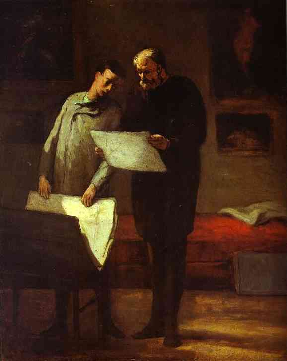 Advice To A Young Artist 1860 | Honore Daumier | Oil Painting