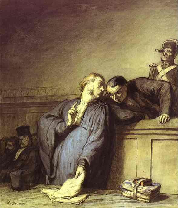 A Criminal Case 1865 | Honore Daumier | Oil Painting