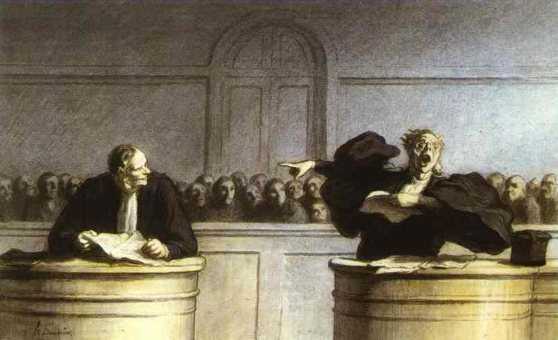 A Famous Motive 1862-65 | Honore Daumier | Oil Painting