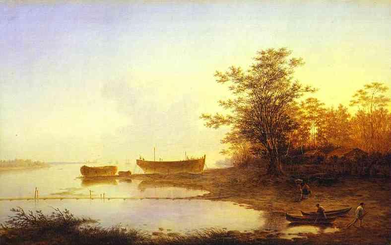 Sunrise In The Suburbs Of St Petersburg 1832 | Maxim Vorobiev | Oil Painting
